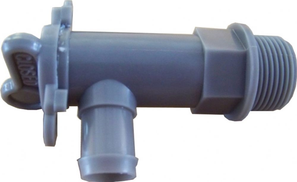 DRAIN TAP GREY WASTE 3 4 BSP For 25mm HOSE